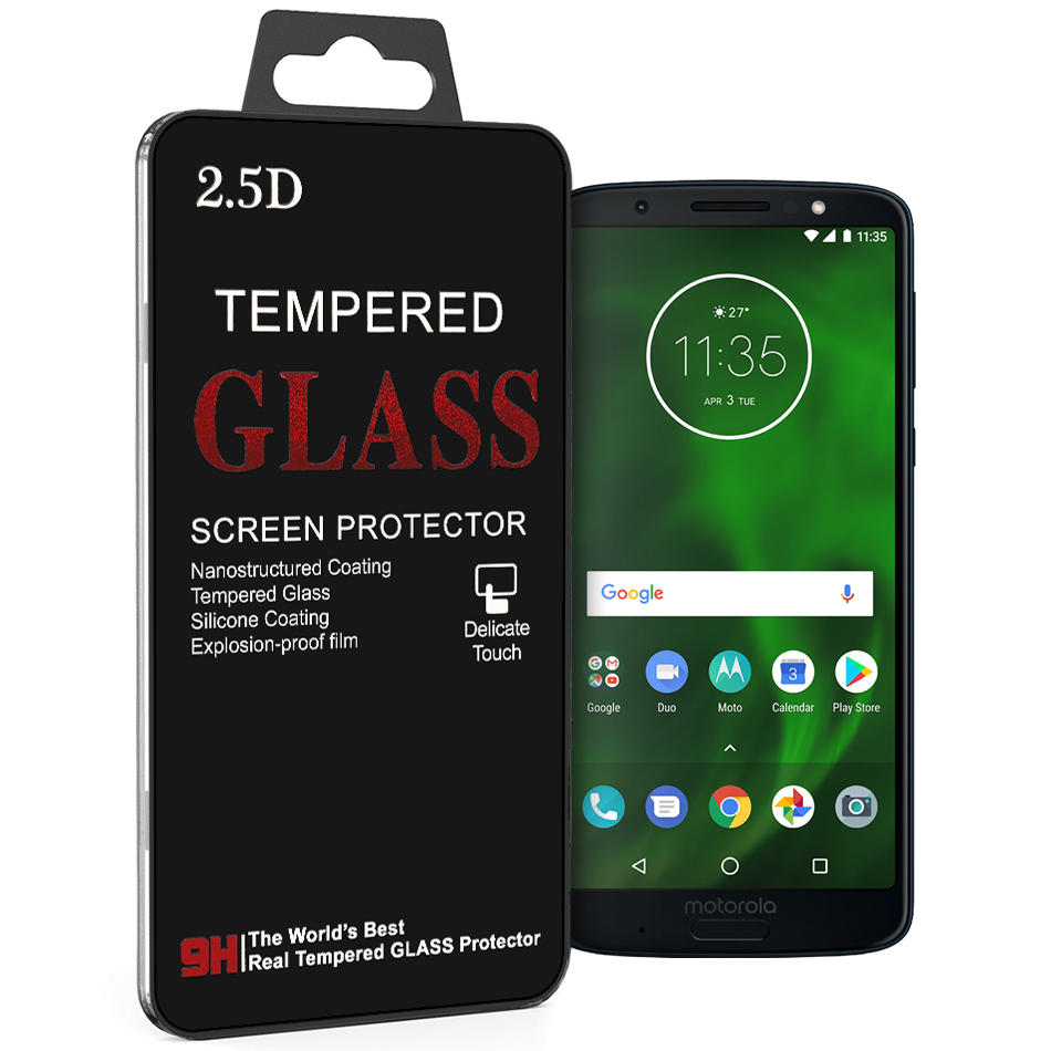 the best attitude 4eac7 dd4d2 9H Tempered Glass Screen Protector - Motorola Moto G6 Plus